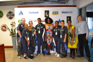 2017 Web Ranger ambassadors with Facebook team members Akua Gyekye & Emilar Gandhi, McAuley teacher Zita Jurgens and MMA director William Bird.